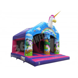 Tobogan Hinchable De Unicornio
