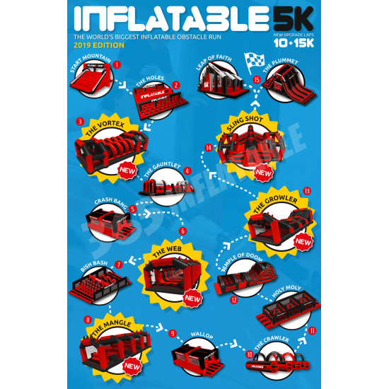 Carrera De Obstaculos Inflable 5k